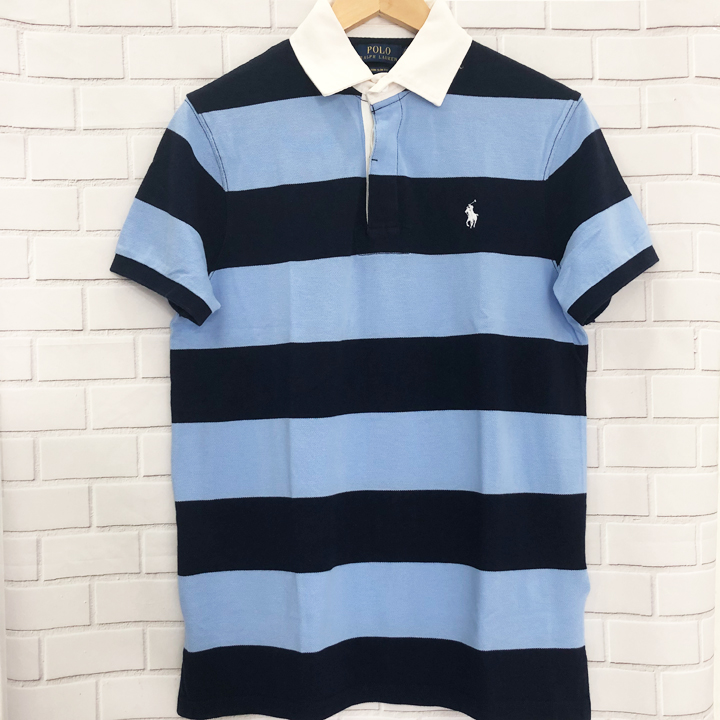 Polo Ralph Lauren Custom Slim Fit Polo Shirt - Navy/Blue, size L