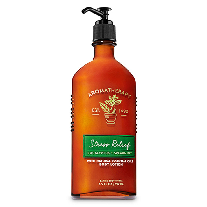 Lotion dưỡng da Bath & Body Works Aromatherapy - Stress Relief Eucalyptus Spearmint, 192ml