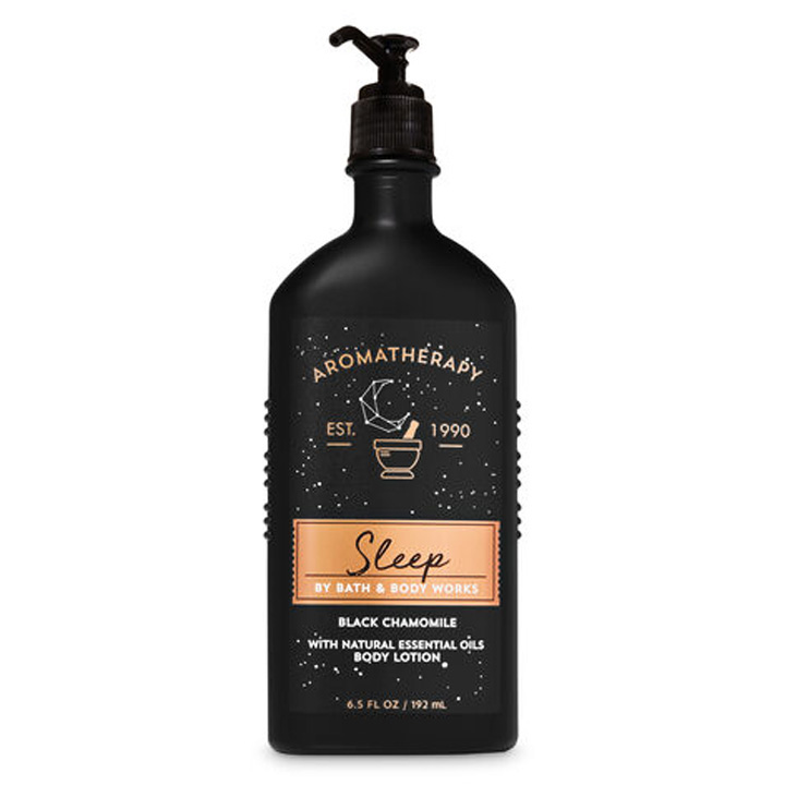 Lotion dưỡng da Bath & Body Works Aromatherapy - Sleep Black Chamomile, 192ml