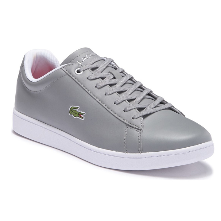 Lacoste Hydez Leather Sneaker - Grey/White, size 42