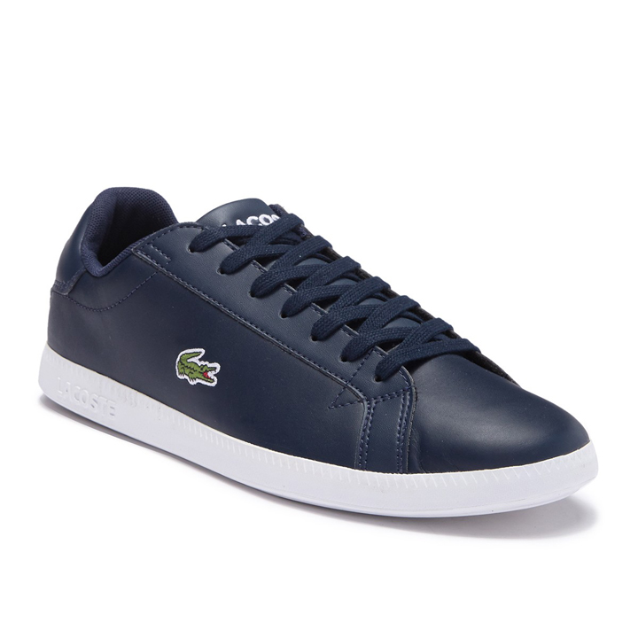 Lacoste Hydez Leather Sneaker - Navy/White, size 41