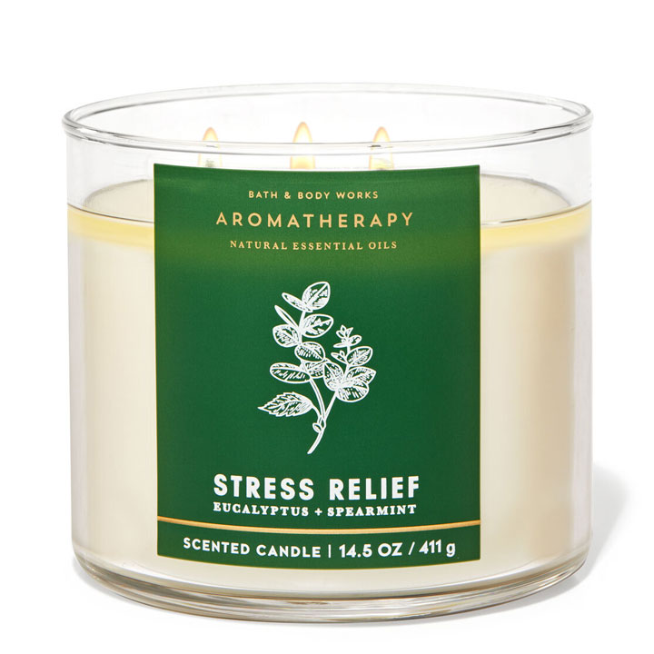Nến thơm Bath & Body Works Aromatherapy Stress Relief Eucalyptus Spearmint, 411g