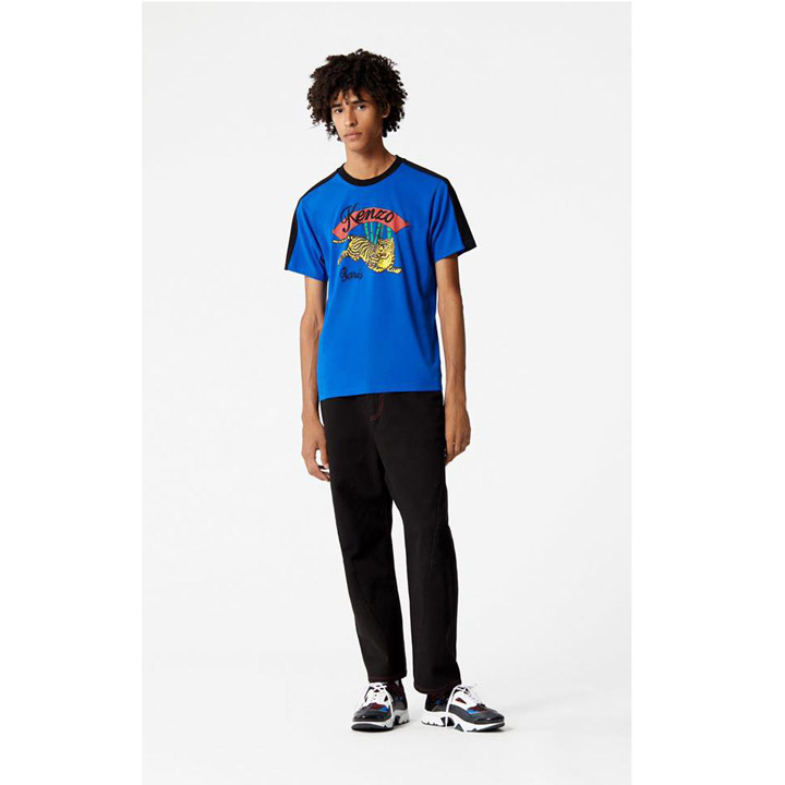 Kenzo 'Bamboo Tiger' 'Capsule Golden Week' T-shirt, Blue - Size M