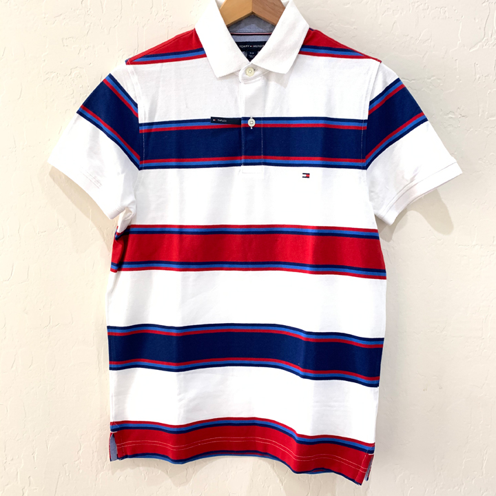 Tommy Hilfiger Slim Fit Coupe Etroite Striped Polo Shirt - White, Size M