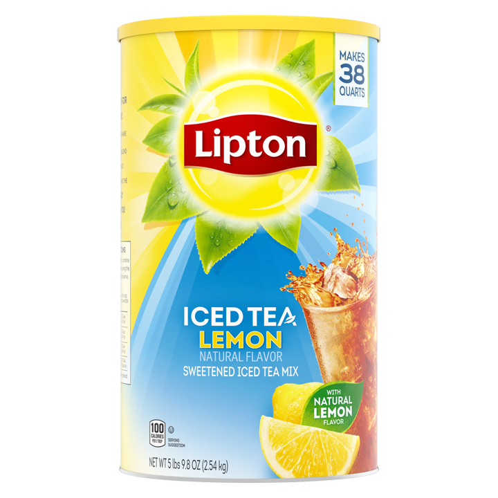 Bột trà chanh Lipton Lemon Iced Tea with Sugar Mix, 2.54kg