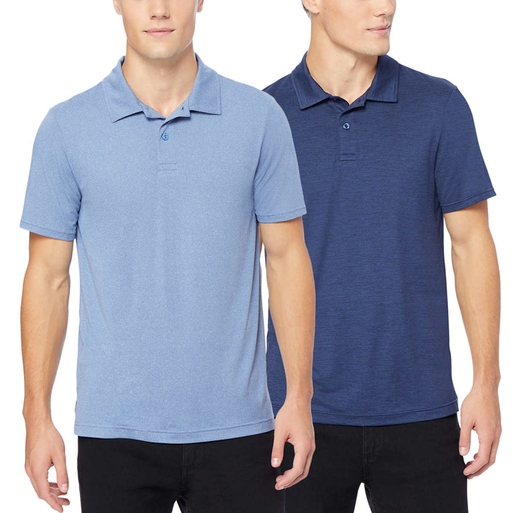 Set 2 áo 32 Degrees Cool Polo - Pacific/Skyline, size S