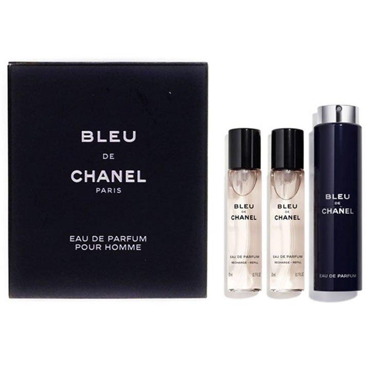 CHANEL Bleu de Chanel Eau de Parfum - Twist and Spray, 3 x 20ml