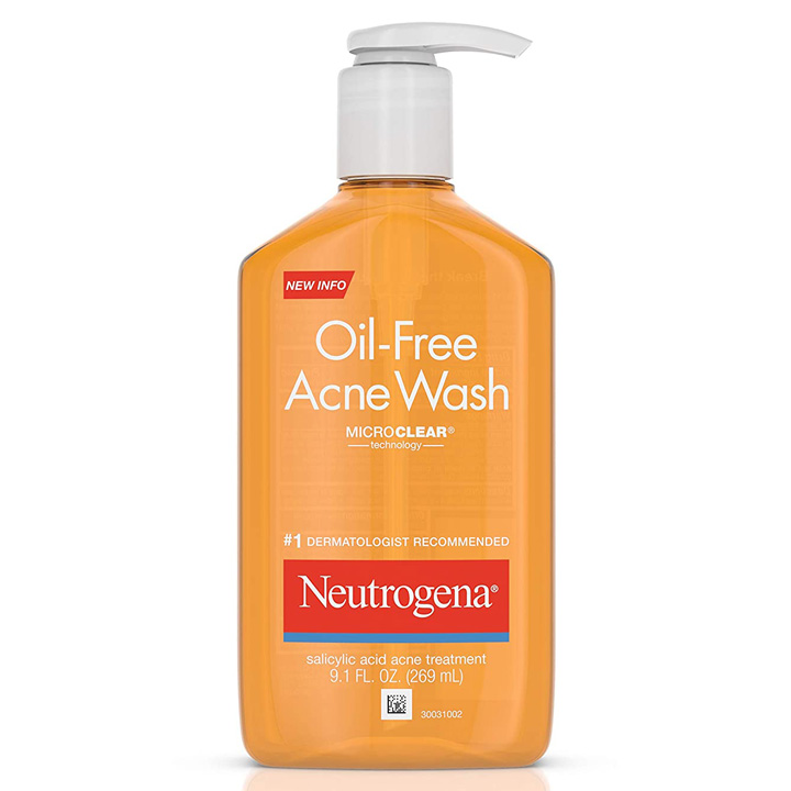 Rửa mặt Neutrogena Oil-Free Acne, 269ml
