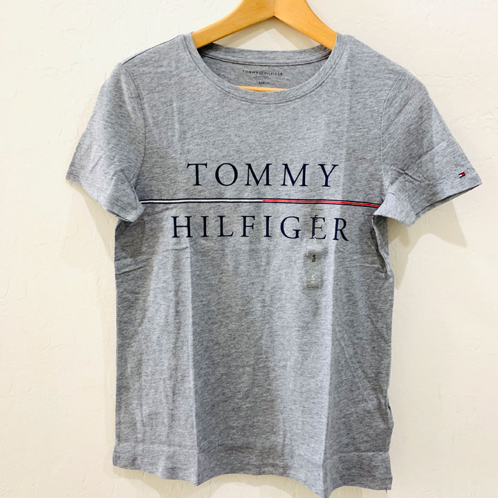 Tommy Hilfiger Classic Fit Adaptive Stripe Signature Tee Crewneck T-Shirt - Grey, Size L