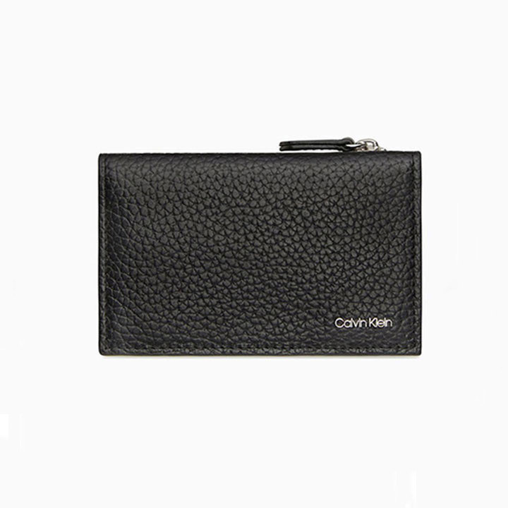 Calvin Klein Pebble Mini Card Case, Black