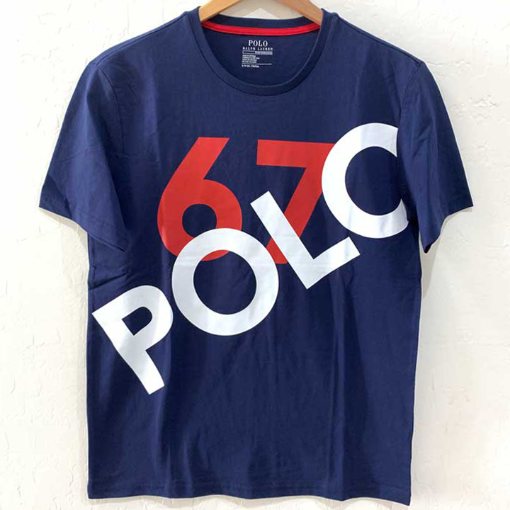 Polo Ralph Lauren Classic Fit Logo 67 Cotton Crewneck T-Shirt - Navy, Size L