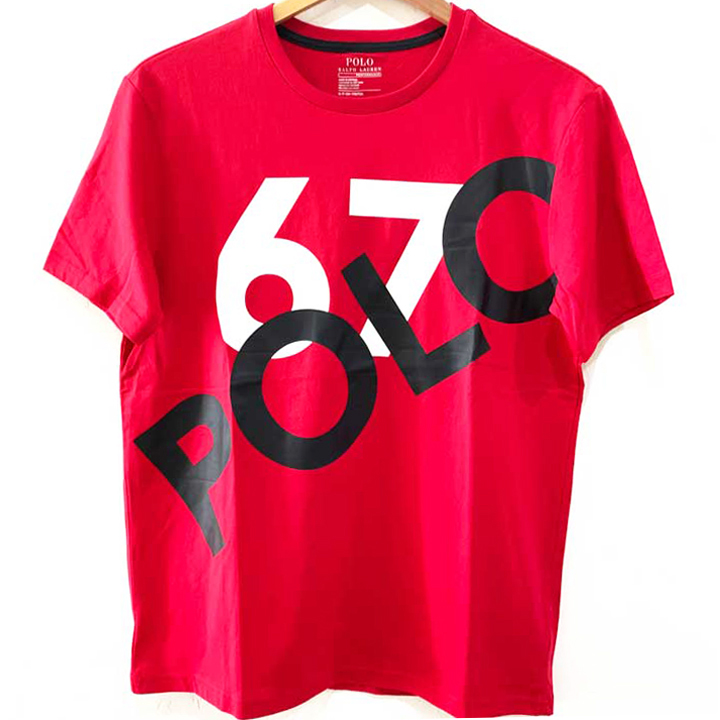 Polo Ralph Lauren Classic Fit Logo 67 Cotton Crewneck T-Shirt - Red, Size S