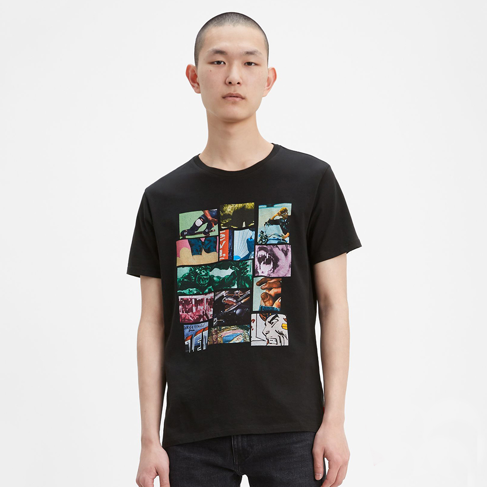 Levi's Graphic Crewneck T-Shirt - Black, size S