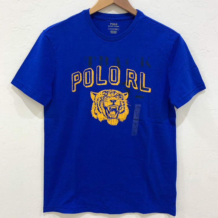Polo Ralph Lauren Men's Classic Fit Crew Neck Tiger Graphic T-Shirt - Jersey Blue, Size M