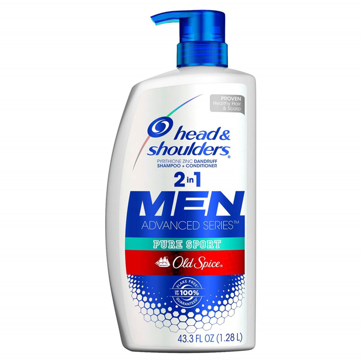 Dầu gội xả Head & Shoulders Old Spice Pure Sport 2in1 For Men, 1.28L