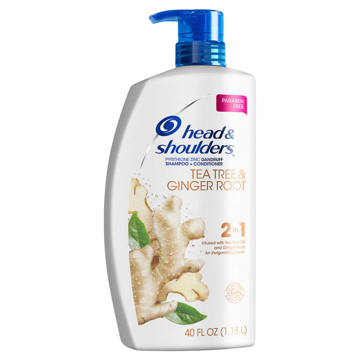 Dầu gội xả Head & Shoulders Anti Dandruff Tea Tree and Ginger Root 2in1, 1.28L
