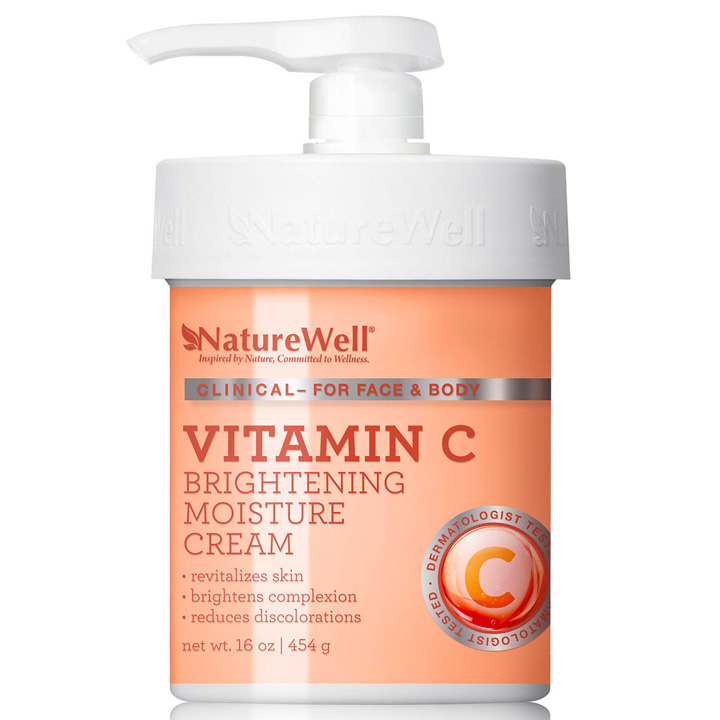 Nature Well Vtamin C Brightening Moisture Cream for Face & Body, 454g