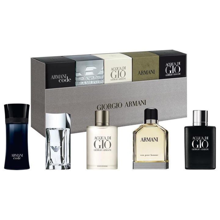 Giorgio Armani Men 's Miniatures Travel Exclusive Set, 5 lọ